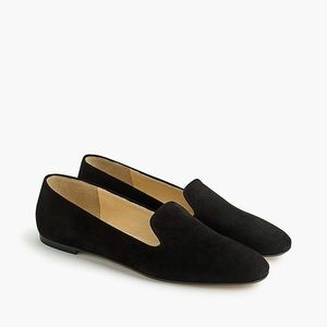 J. Crew Black Suede Smoking Slippers